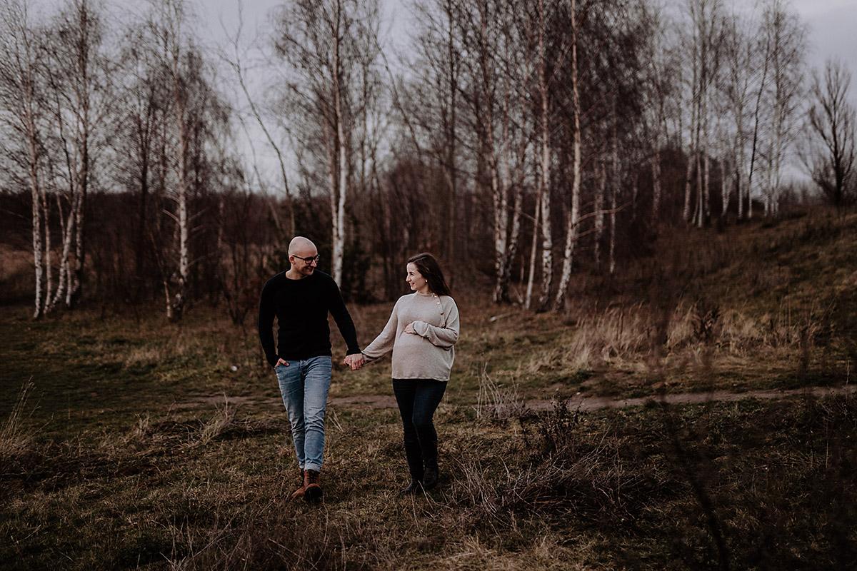 Schwangerschaftsshooting Schladitzer See wild lights photography