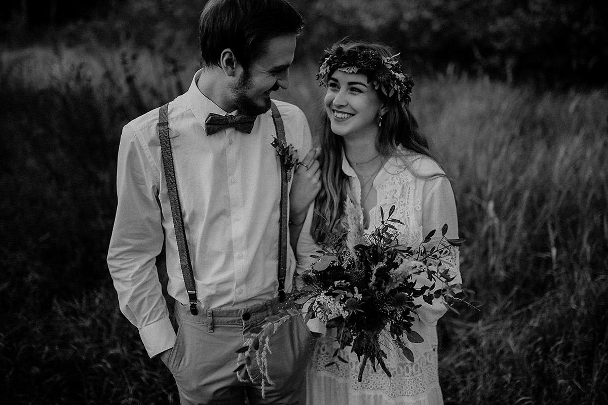 Brautpaarshooting im Bucher Forst